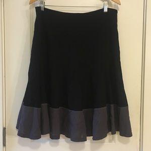 Boden Black Gray A Line Wool Skirt Plus Size 16L